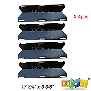 bbq factory® Replacement Porcelain Steel BBQ Gas Grill Heat Plate / Heat Shield Burner JPX231 (4-pack) Select Gas Grill Models By Costco Kirland ,Jenn-Air, Nexgrill ,Glen Canyon, Sterling Forge, and Others