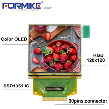 Small size lcd screen 1.5 inch 128x128 square color oled display with 39 pin soldering