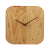 10 INCH Natural solid wood crafted modern simple clock face numbers silent square wooden wall clock for home decor