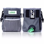 Dog Treat Pouch and Training Bag for Carrying Treats and Pet Toys with Poop Bag Dispenser, Reflective Shoulder Strap and Zippere