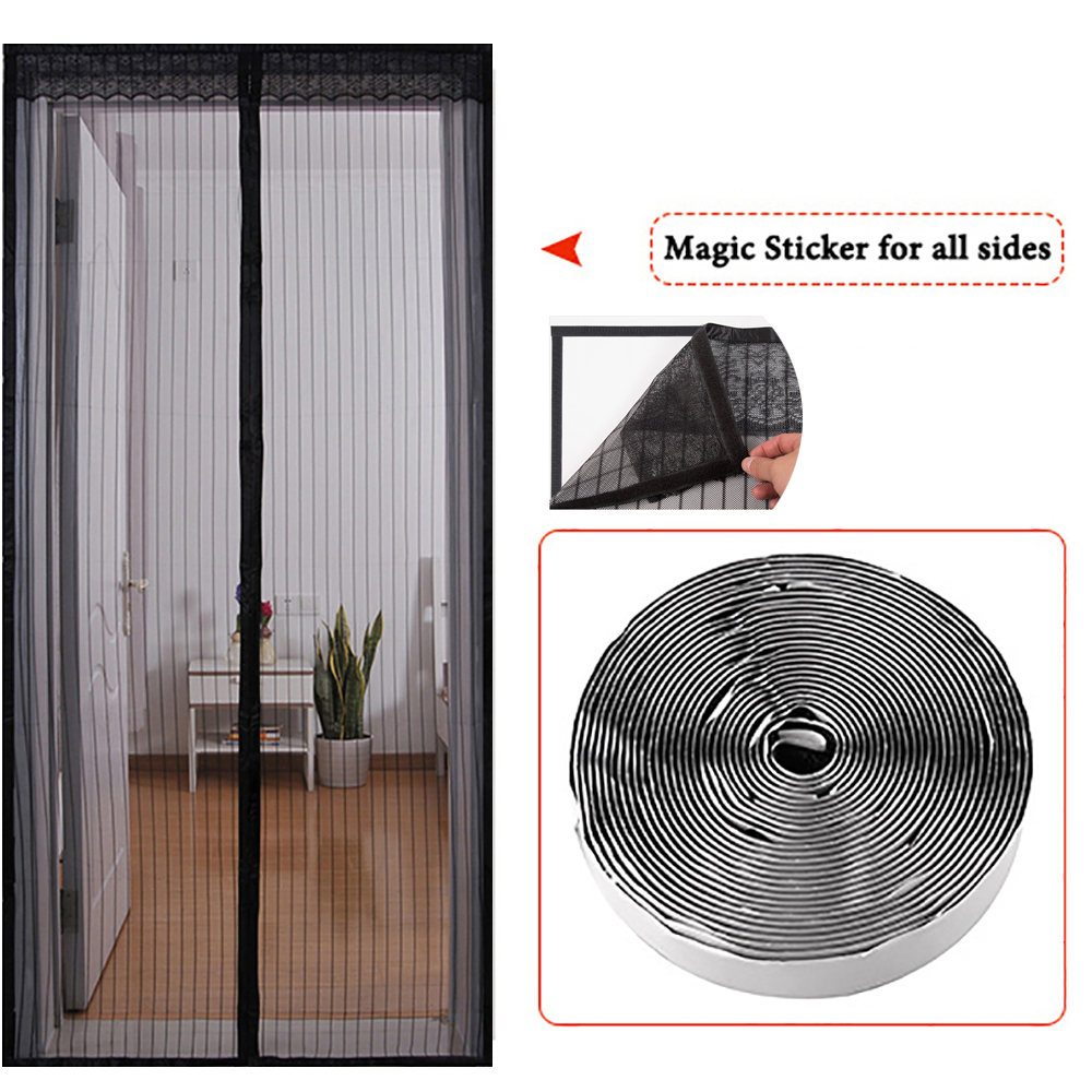 Fly Screen Self Closing Magnetic Door magnetic mesh curtain