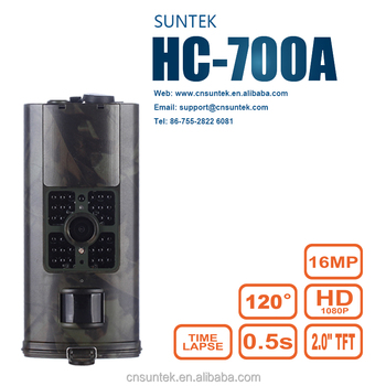 Suntek Factory Directly Offer OEM ODM 16MP FHD IR Night Vision Hunting Camera with Waterproof HC700A