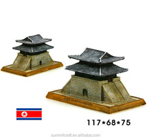 North Korean souvenirs resin general door miniature building model