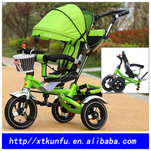 2016 standard safety 3 wheels foldable baby stroller bicycle for shopping