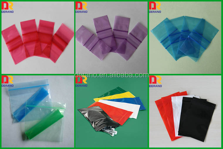 China alibaba Wholesale Cheap Custom Plastic 100% LDPE Printed Color Reclosable Bag for Packing