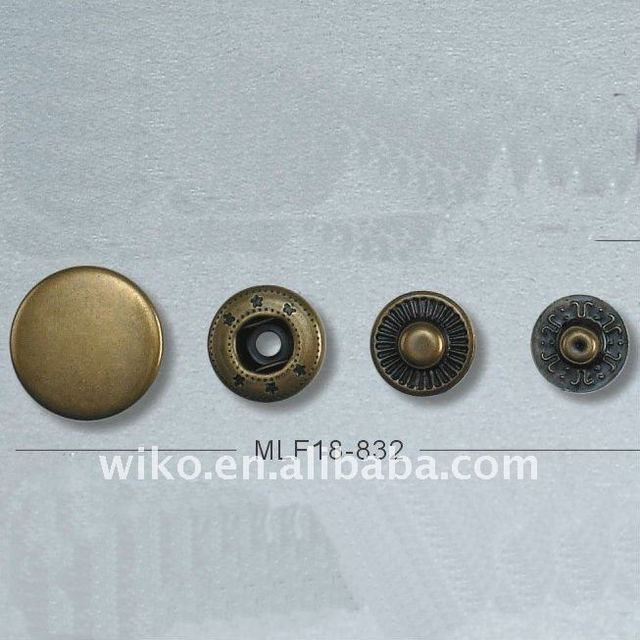 Brass material snap button