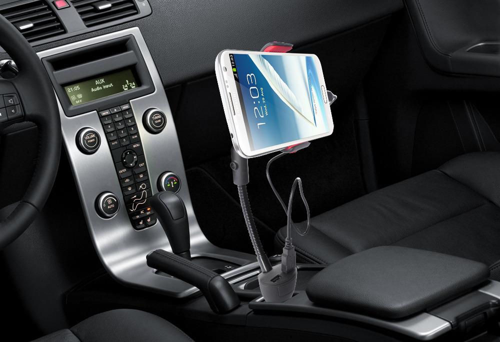 Автомобильного прикуривателя держатель двойной зарядное устройство USB адаптер для Iphone Samsung
