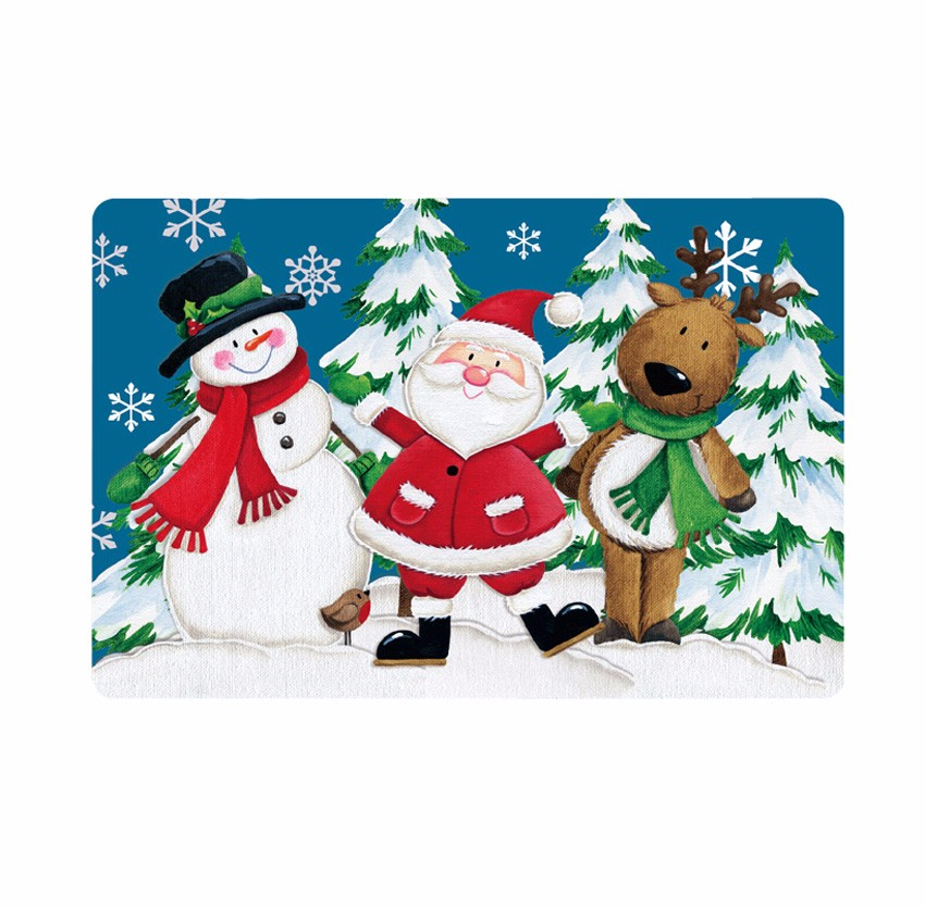 durable hot selling colorful offset printing Christmas dining table placemat