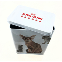 Wholesale pet food tin box cat food tin container manufacturer
