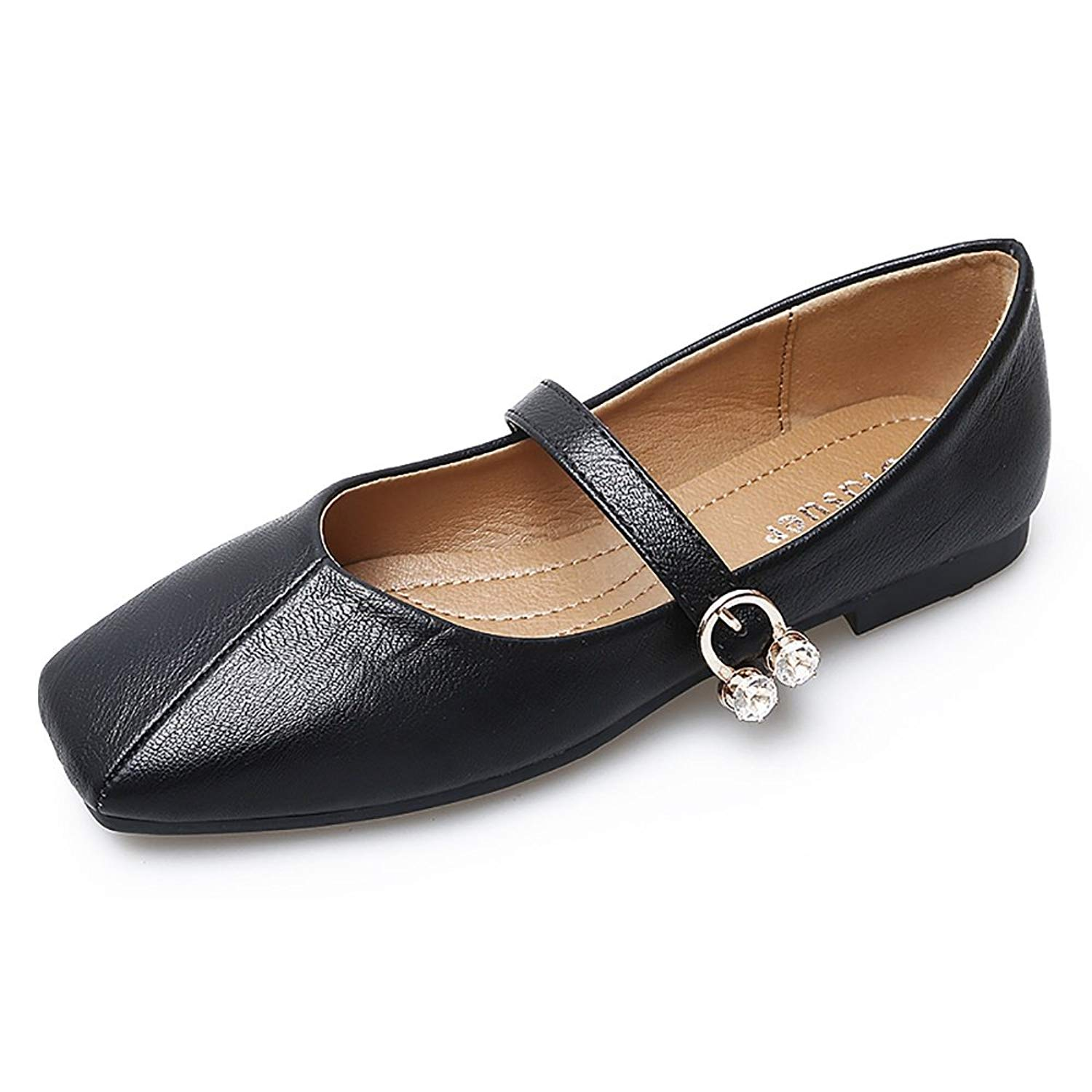 9ab1b3486 Get Quotations · Meeshine Womens Ankle Strap Mary Jane Style Ballet Flats