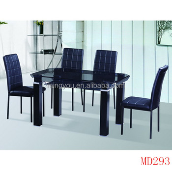 Home Furniture General Use Glass Dining Table And Chair