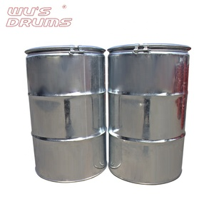 Open Lid 55 Gallon Stainless Steel Galvanized Drum