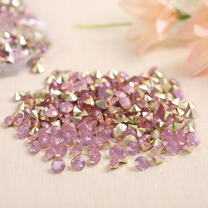 wholesale cheap crystal light rose resin rhinestone bead flatback beads