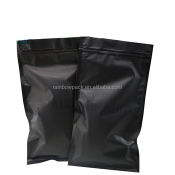 Plastic small black ziplock bags for packaging