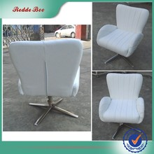 High white leather armrest dining chairs modern design european style