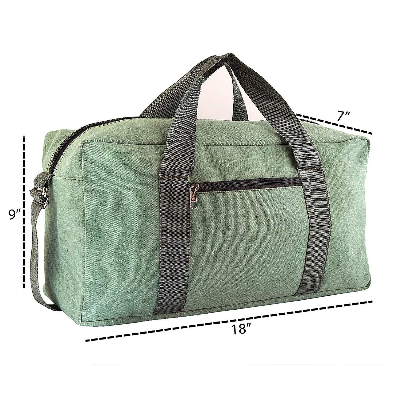 Canvas Tool Bag Heavy-Duty Large | Jumbo Mechanic Tool Bag | Tactical Tool Bag 18 inch