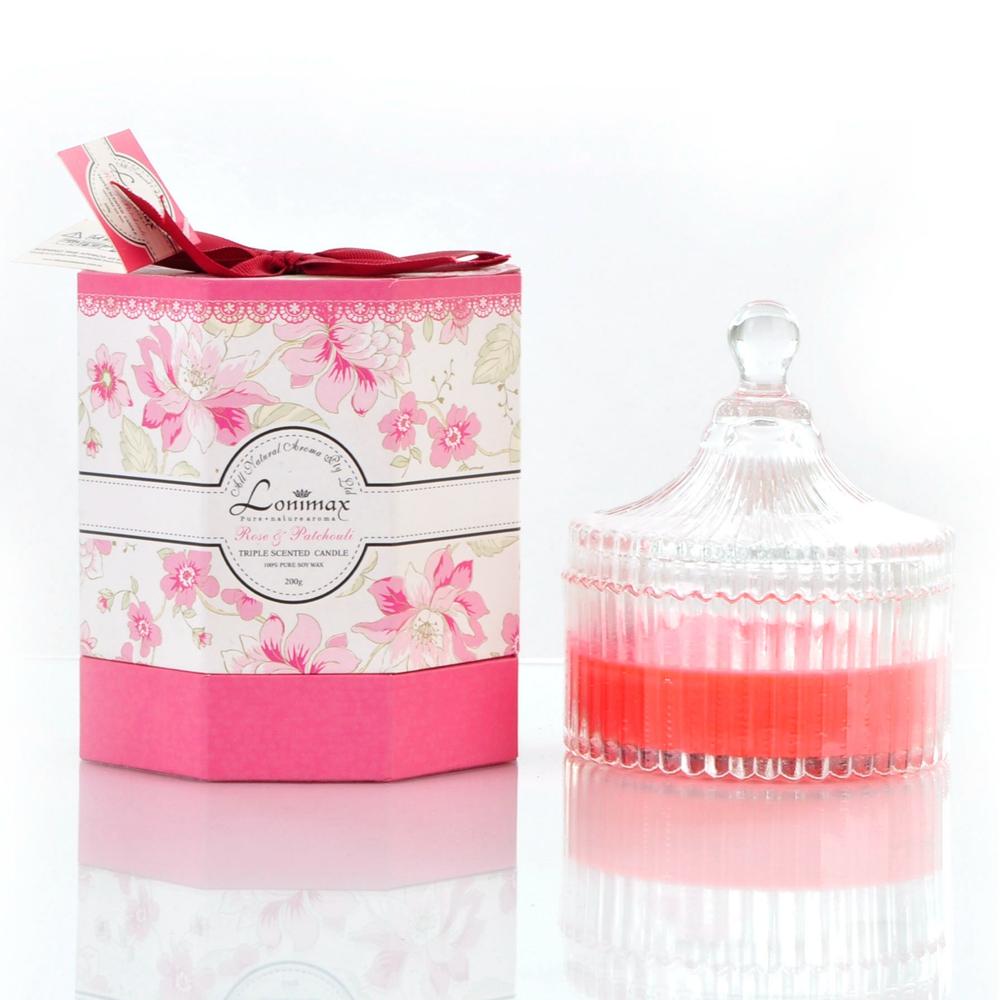 Hochzeit Verwendung und Multi Bunte Duftkerze in Glas-Kerze-Produkt ...