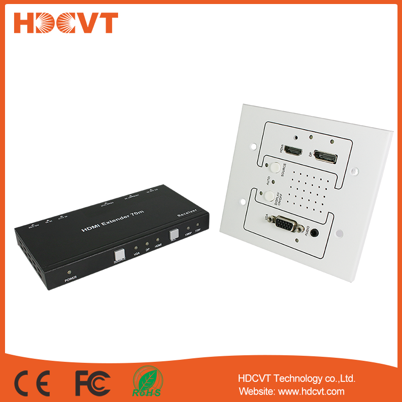 HDMIDPVGA WALL PLATE Extender over CAT6 extender hdmi 4k