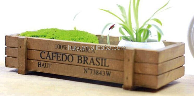 Large Square Wooden Pot With Soil And Seed Herb Flower Planter Box
