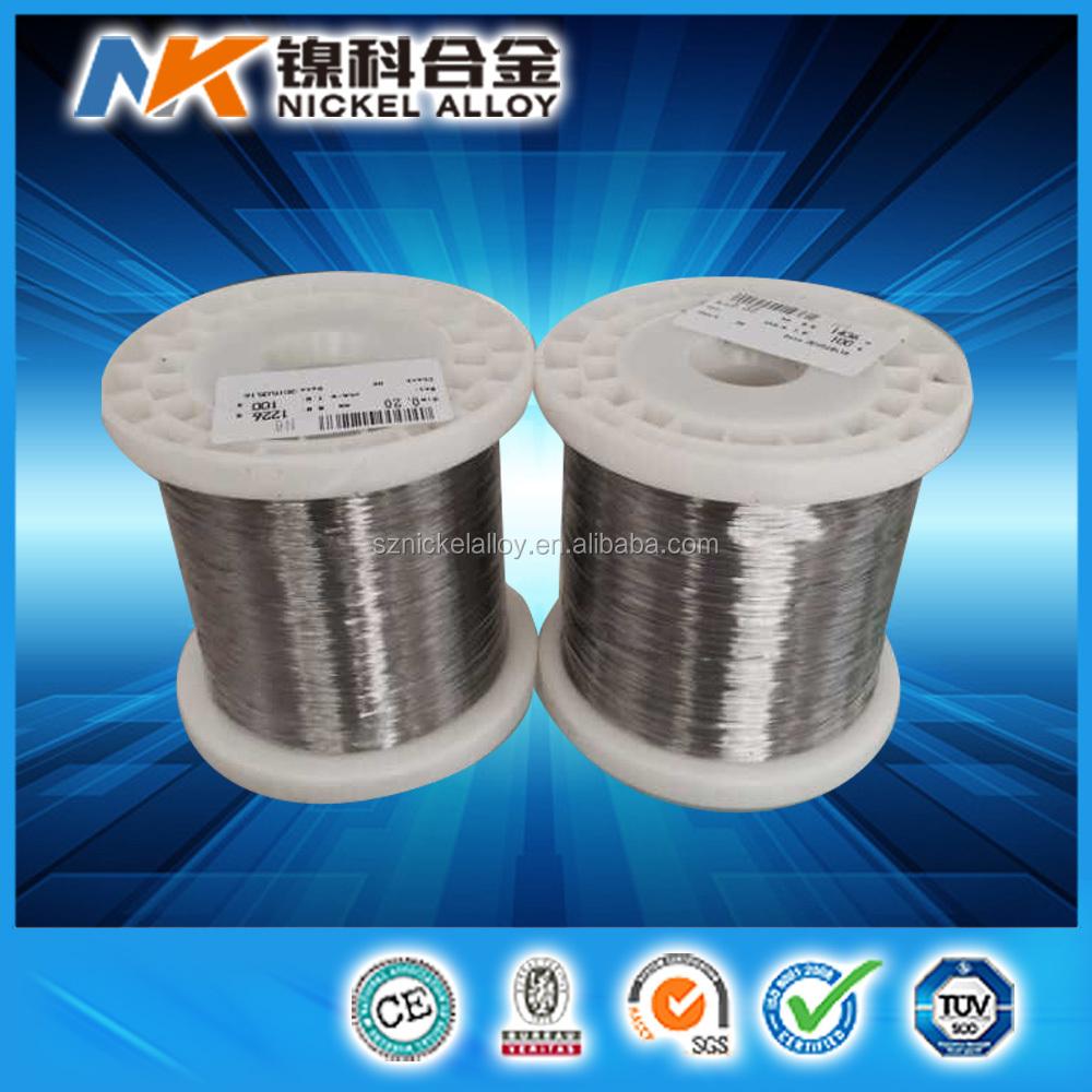 Sgs Certification Ultra Thin 0.025 Mm Nickel Wire 99.98%