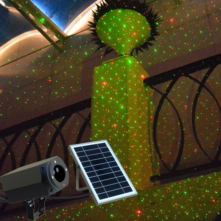 Neues design günstige solar power home use weihnachten laserlicht projektor outdoor