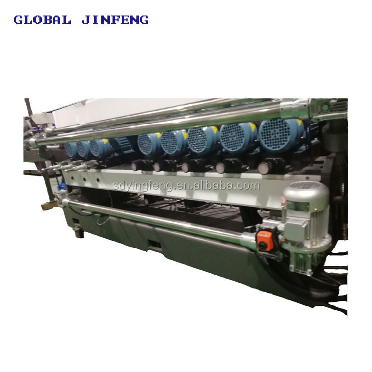 Alibaba Gold member of 10 motors China glass straight line beveling and polishing machine factory