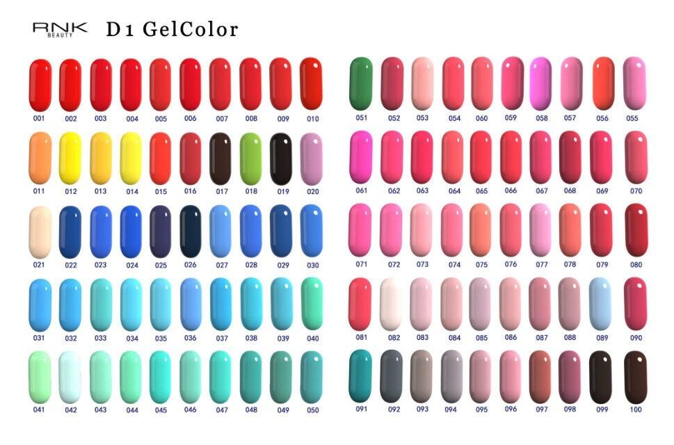 Rnk Uv/led Gel Color Nail Polish Soak Off Color Gel Polish