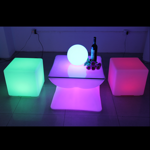 portable battery powered led light bar table fancy shaped luminous table for nightclub