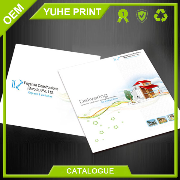 Direct factory price white cardboard promotional Chinese steel furniture design catalog printing