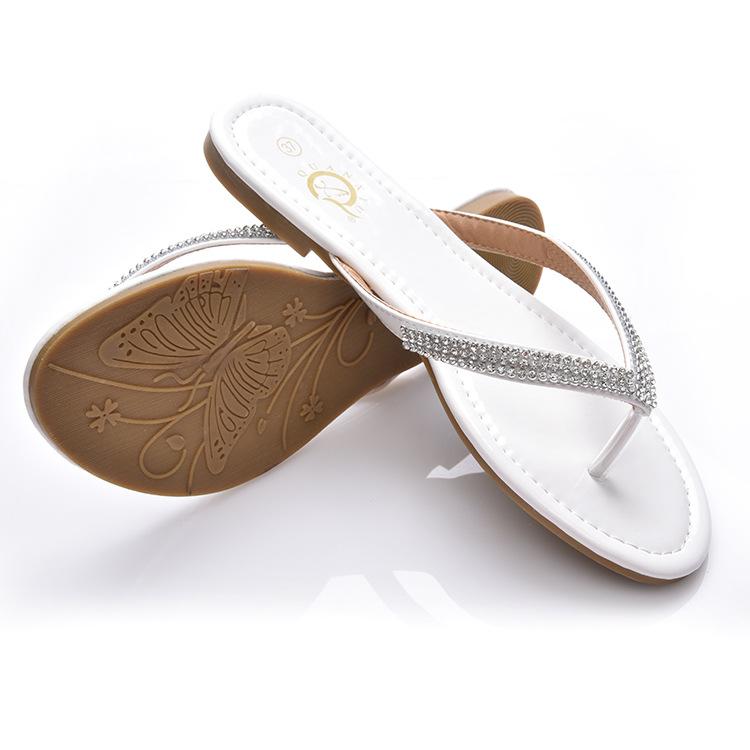 White Diamond Flat Shoes