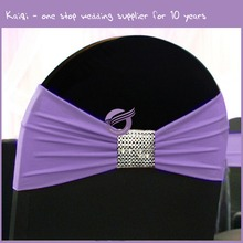 KB058 Wholesale Spendex Ruffle Chair Sash for Wedding Banquet