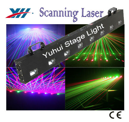 DPSS Diode 8 Heads Scanning RGB Disco Stage Laser Light