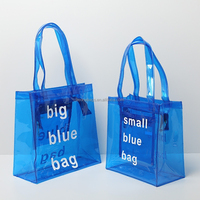 Heavy Duty Clear Tote Bags Transparent PVC Tote Bag Beach Bag Pouch