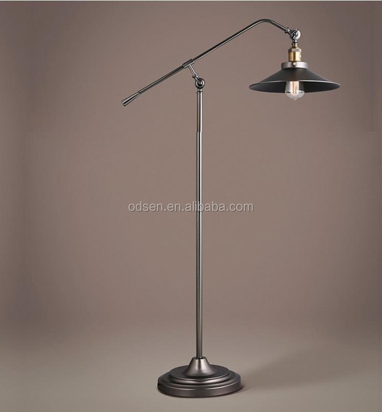 Zwart smeedijzeren industri le vintage vloerlamp staande lampen product id 60282305518 dutch - Licht industriele vintage ...