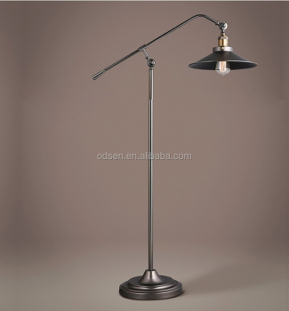 Black Wrought Iron Industrial Vintage Floor Lamp Buy Floor Lamp