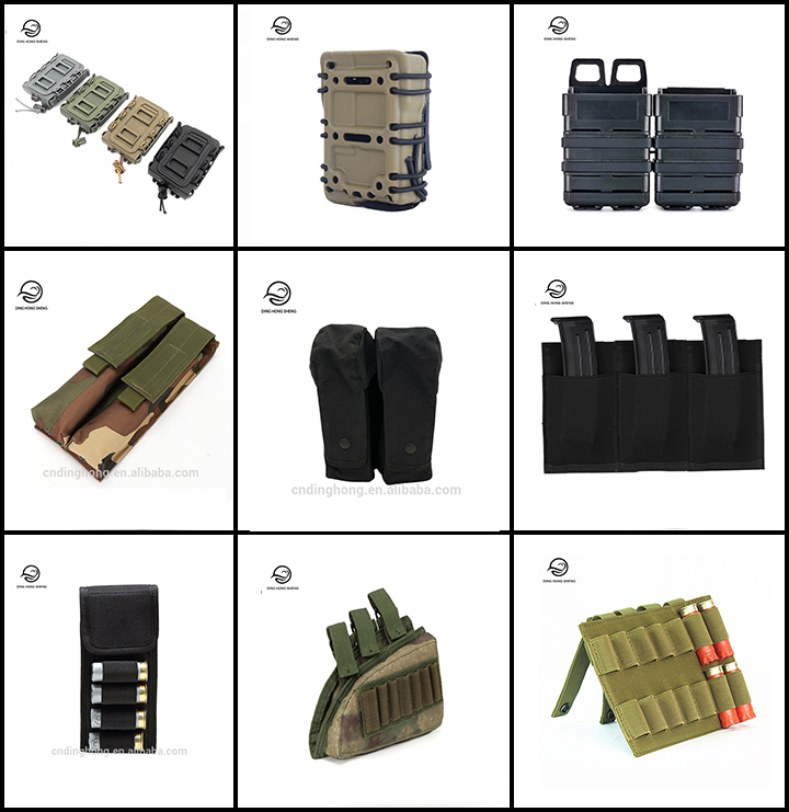 Tactical 5.56&7.62 Fastmag Belt Clip Plastic Molle Magazine Pouch Airsoft 9mm Pistol Mag Cartridge Holder Ammo Case