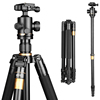 62'' 8KG Load New Aluminum Camera Tripod Monopod Q222 Pro Damping Ball head Photography Tripod for Digital video dslr camera