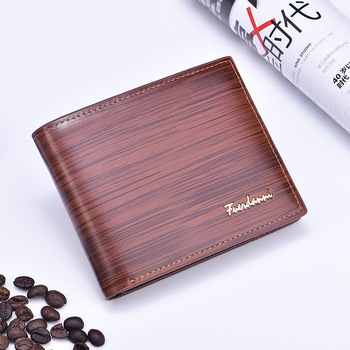 2019 Fuerdanni European And American Style Vintage Glazed  Grain Clip Short Section Wallet For Men