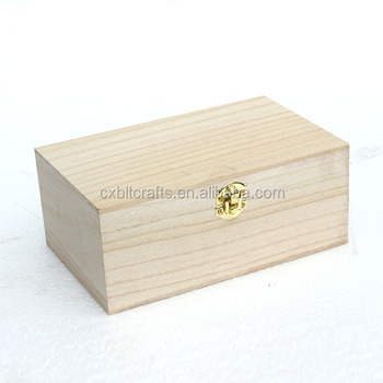 lightweight wood material made wooden box for gift packing