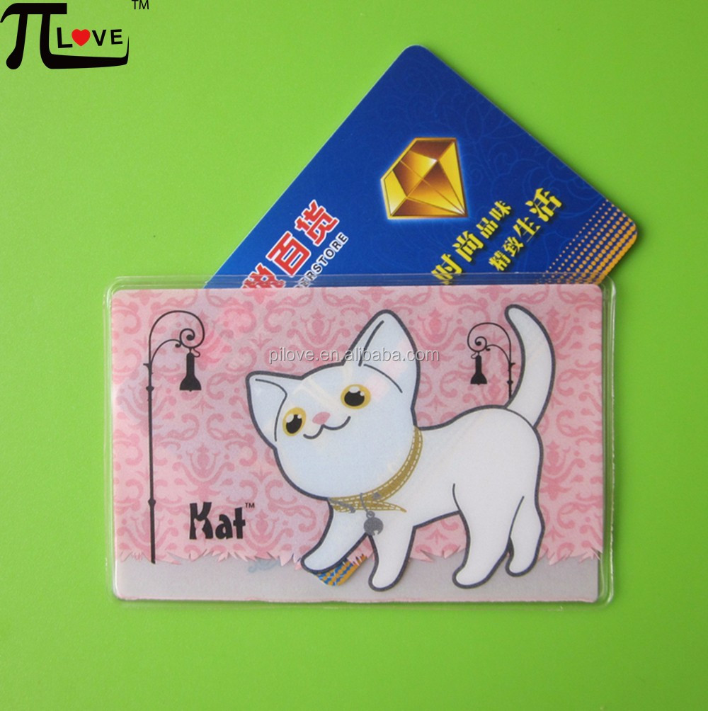 Customized advertising gifts atm card pouch with cheaper price