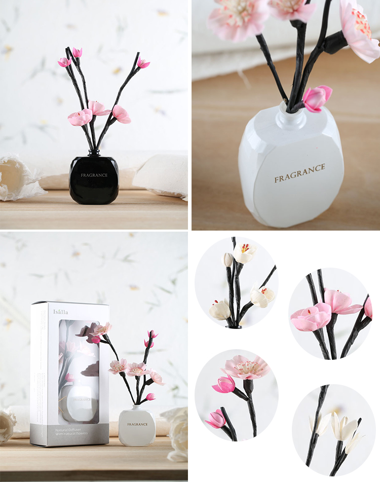 2018 Wedding Favor Perfume Nice Scents Glass Bottle Air Freshener Ceramic Aroma Reed Diffuser