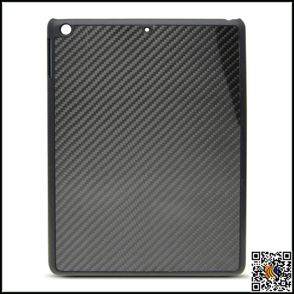 Real carbon fiber case for iPad5, luxury custom black covers for iPad Air carbon fiber cover