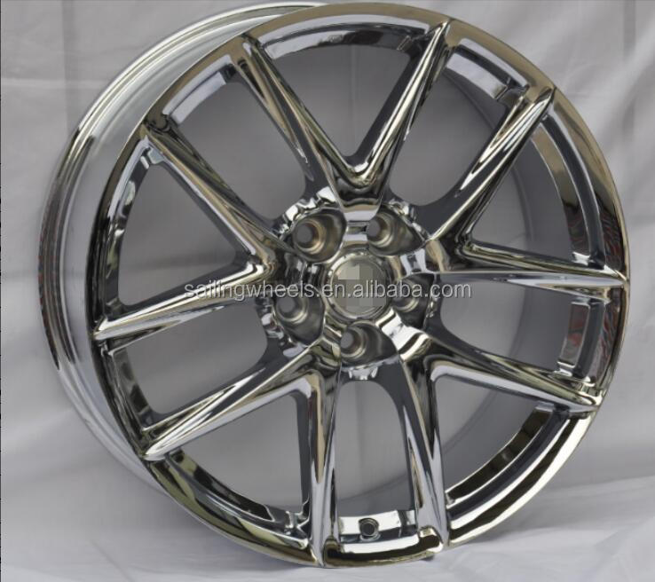 5x114.3 car chrome alloy wheels with 19 inch