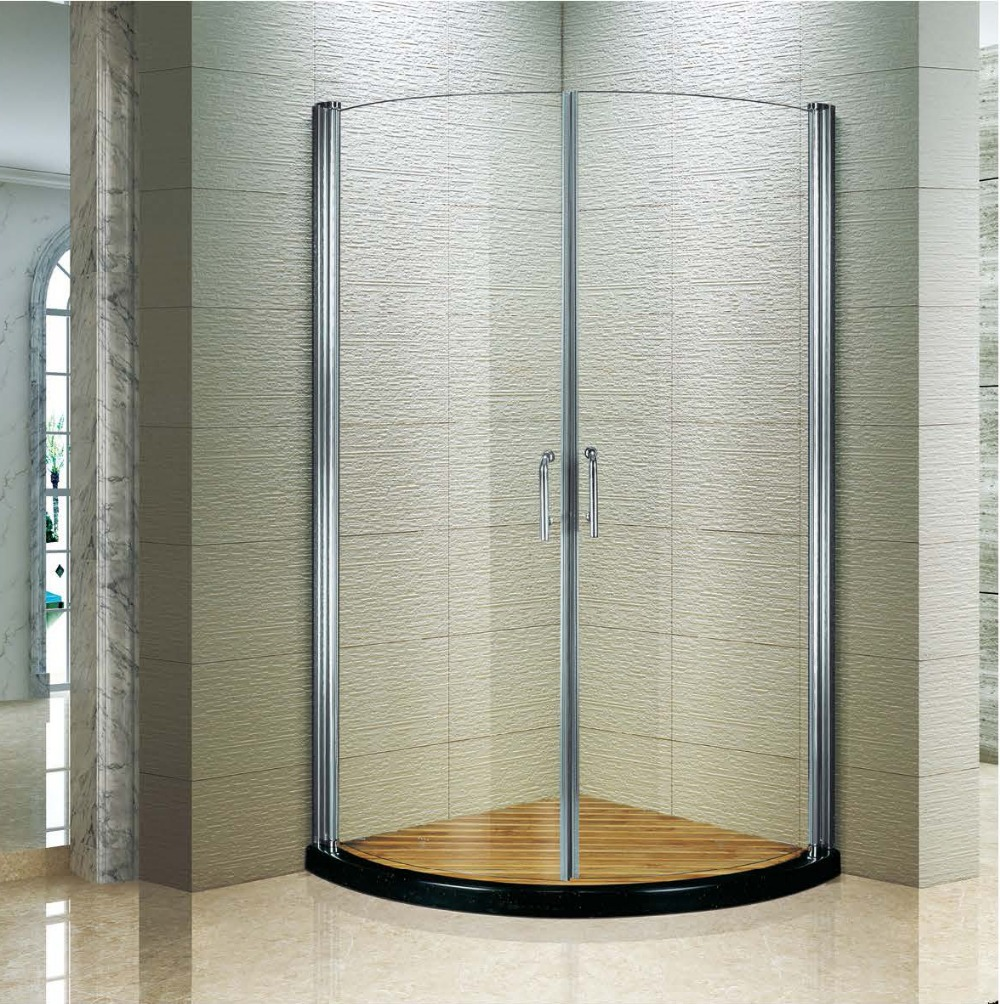 Cheap Corner Shower Cubicles/arc-shape Outward /inward Pivot Curved ...