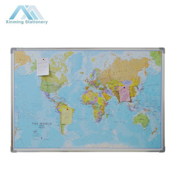 Print World Map Fabric Display Board Fabric Pin Board - Buy Fabric Display  Board,Fabric Pin Board,Pin Board Product on Alibaba.com