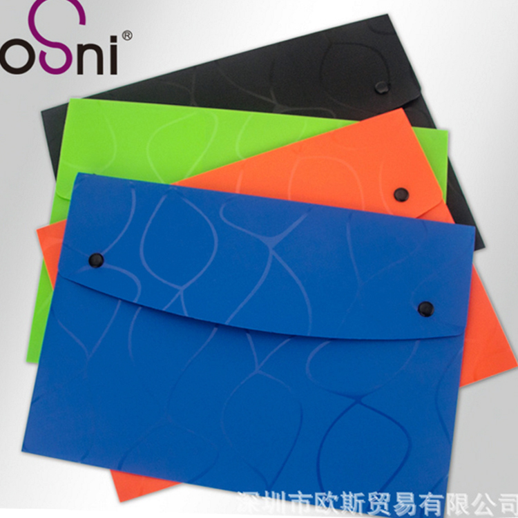 Colorful Simple Snap Document Bag File Folder Bag Office School Bags Waterproof Kit Package