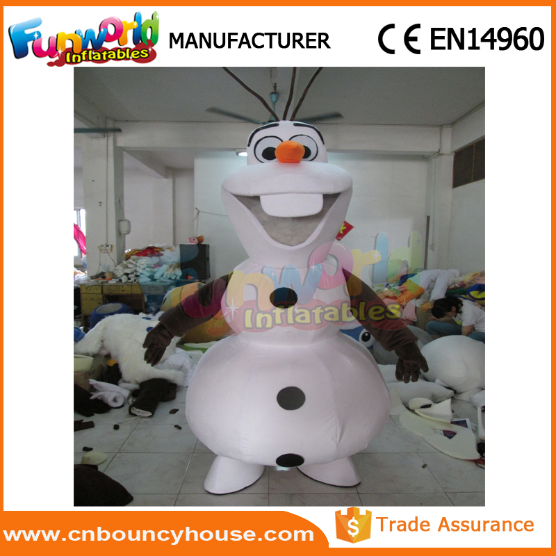 Olaf inflatable moving costume inflatable cartoon mascot