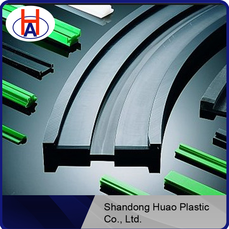 Engineering plastic custom hdpe/uhmwpe linear guide rail