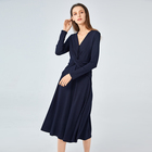 woman fashion jumper dress in casual style