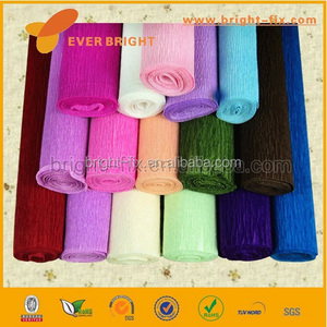 chinese crepe paper factory, waterproof flower crepe paper in roll